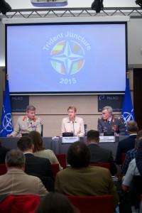 Пресс-брифинг по поводу учений НАТО Соединение трезубец 2015