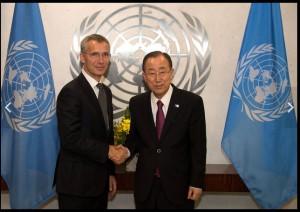 Генсек НАТО встретился с генсеком ООН