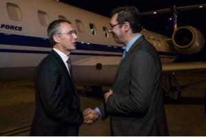 Генеральный секретарь НАТО посетил Сербию