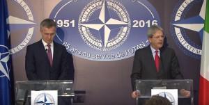 Пресс-конференция генсека НАТО и главы МИД Италии