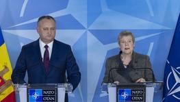 Пресс-конференция Президента Молдовы и заместителя генсека НАТО