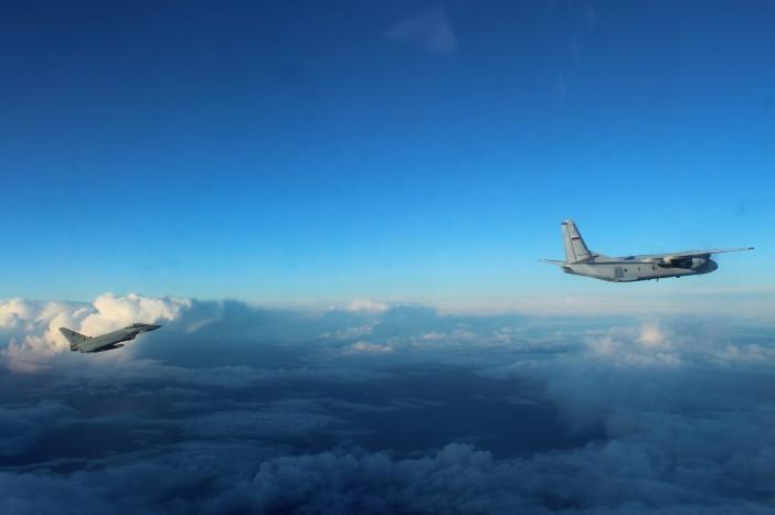 Перехват российского самолета на Балтикой 1 февраля 2018