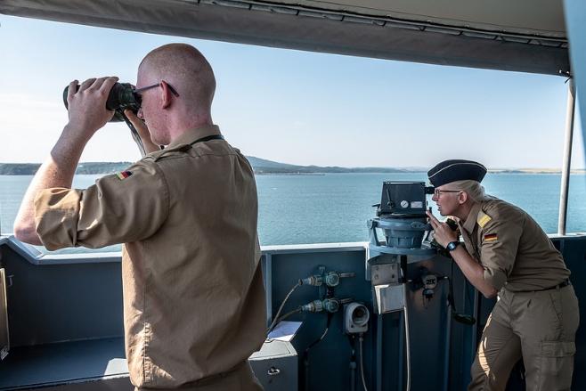 Фото учений кораблей НАТО в Черном море