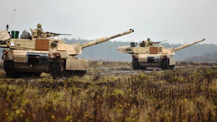 танки на учениях НАТО