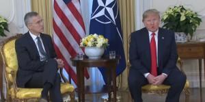 Пресс-конференция Трампа и Столтенберга на саммите НАТО