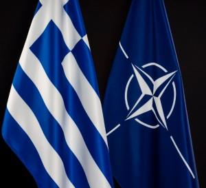 флаги греции и нато